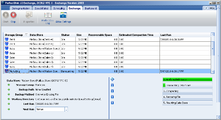 PerfectDisk Exchange Screenshot